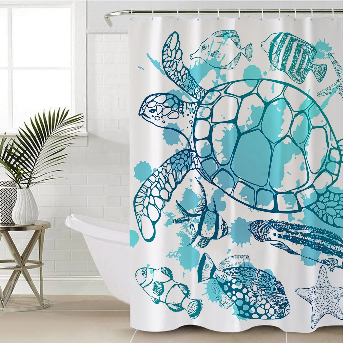 Sea Turtle Society Shower Curtain