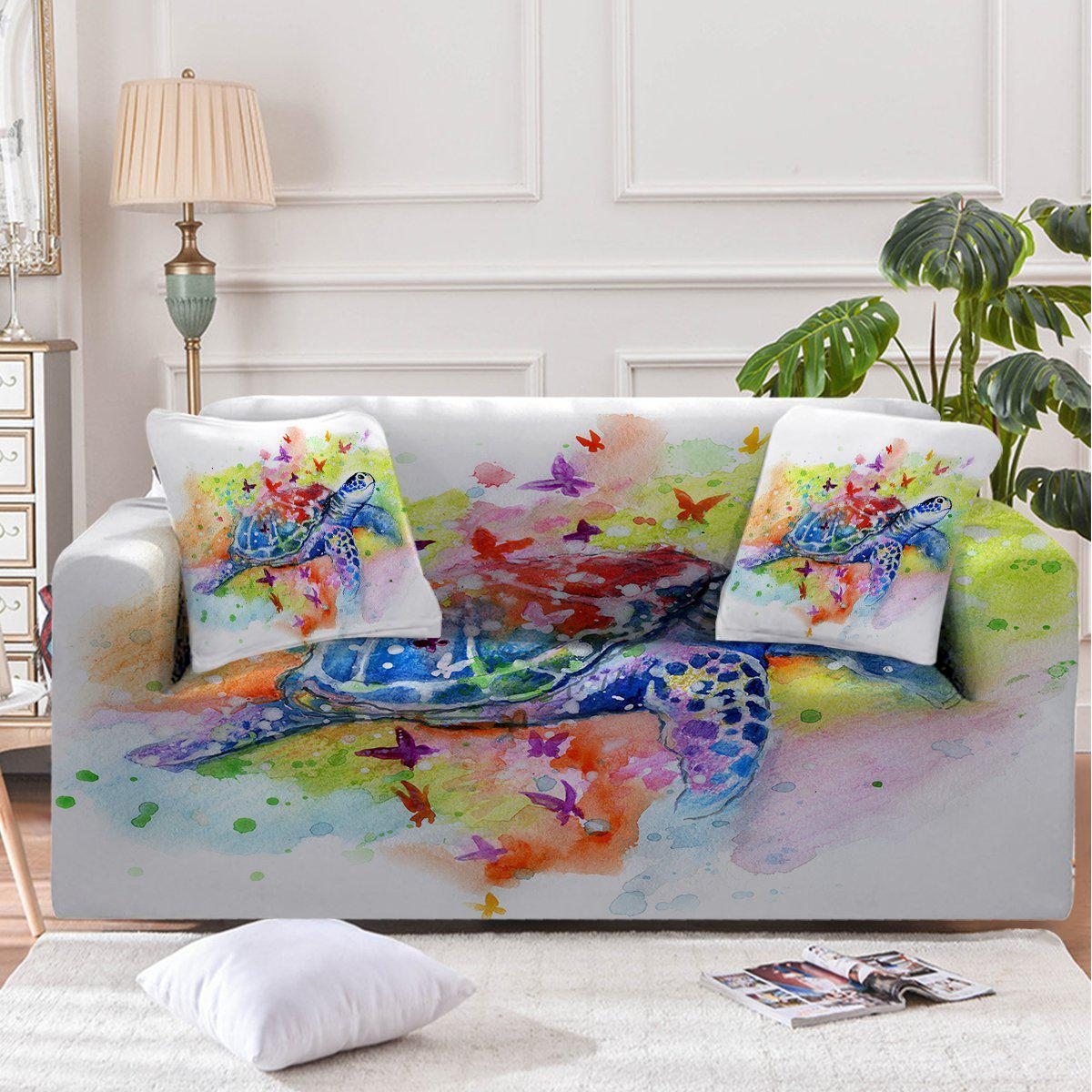 Sea Turtle Splash Couch Cover-Coastal Passion