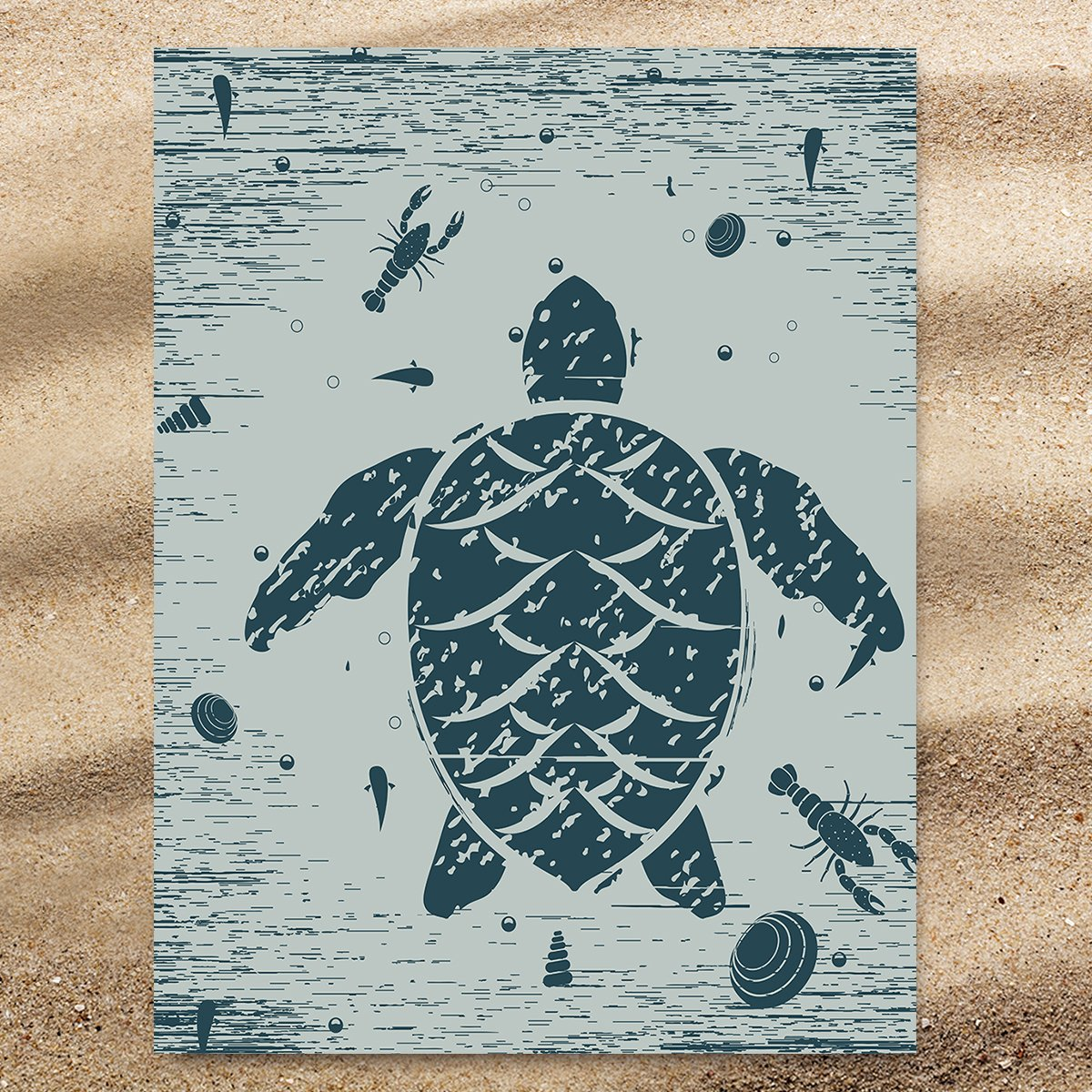 Sea Turtle Treasure Extra Large Towel-Coastal Passion