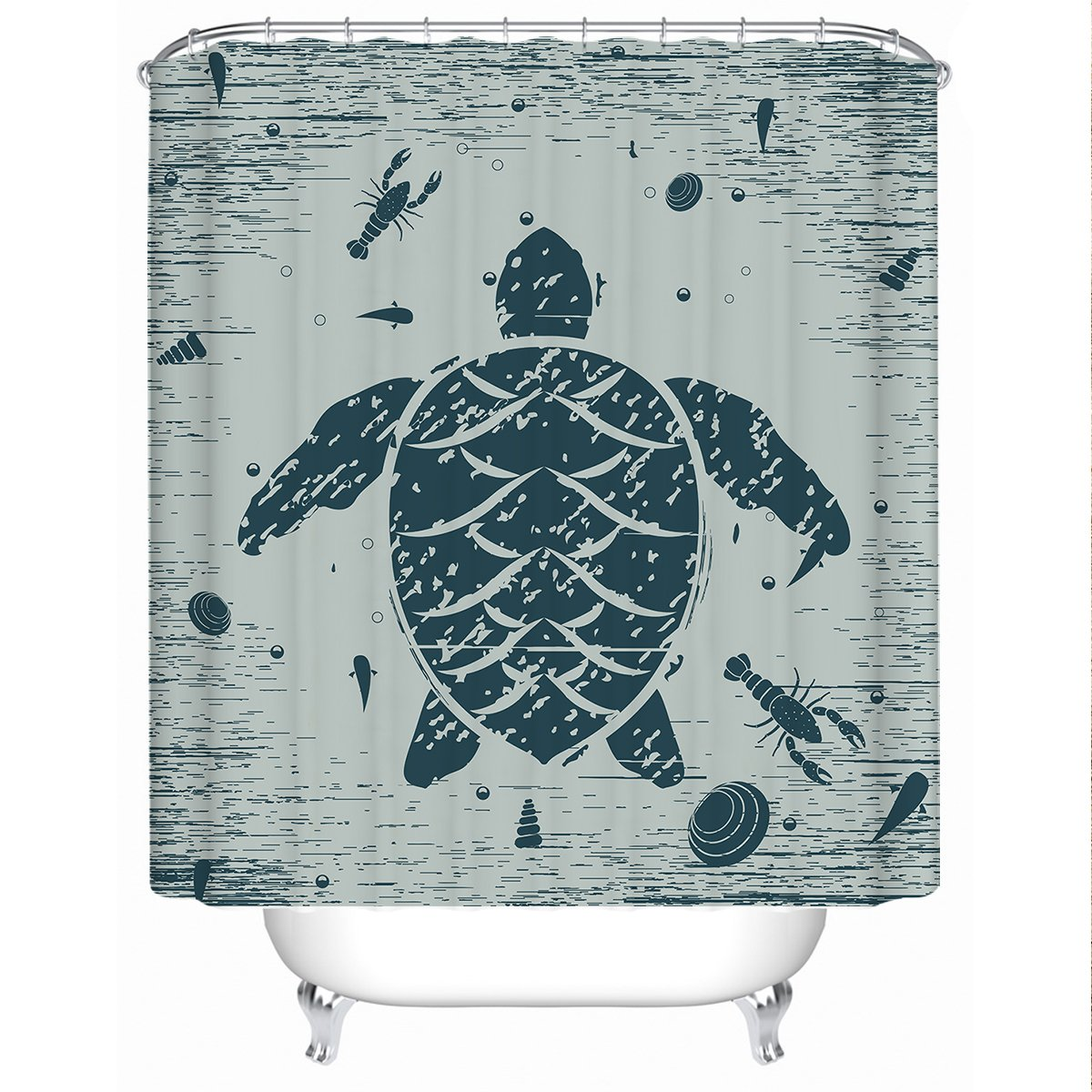 Sea Turtle Treasure Shower Curtain