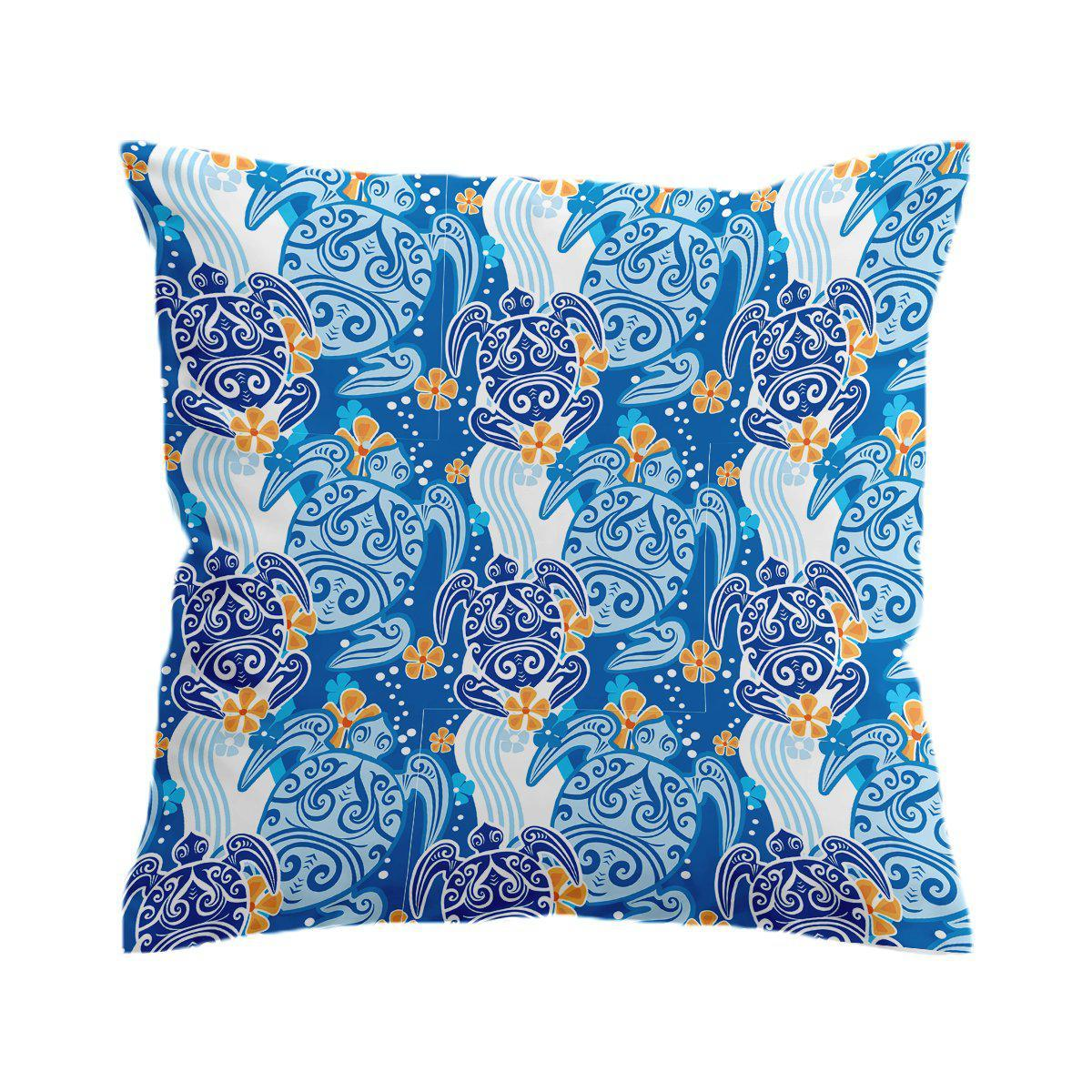 Sea Turtle Tribe Pillow Cover-Coastal Passion