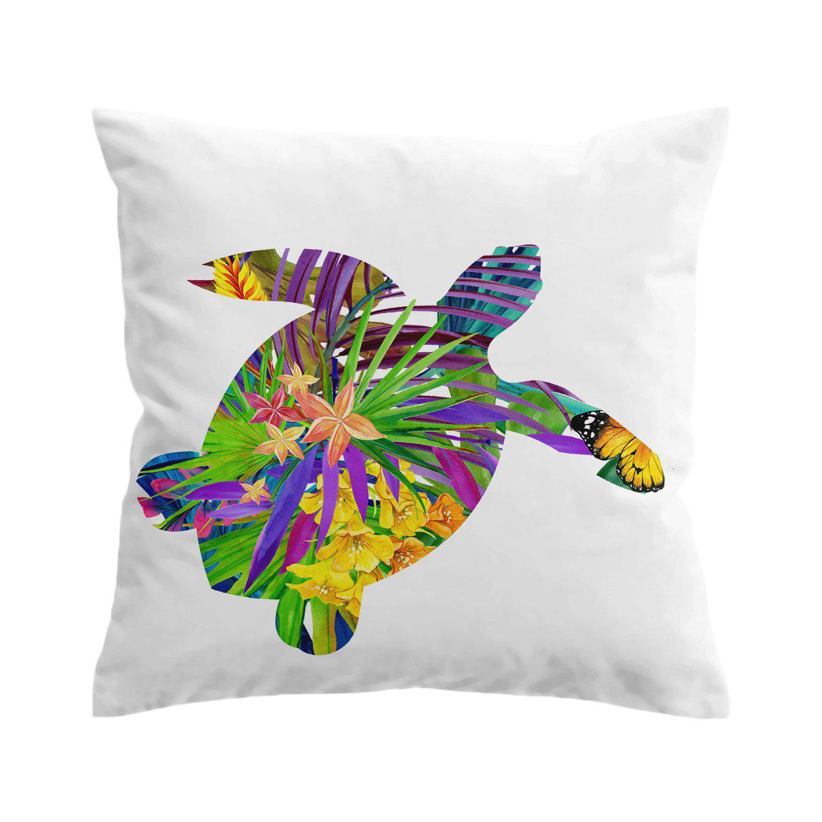 Sea Turtle Tropics Pillow Cover-Coastal Passion