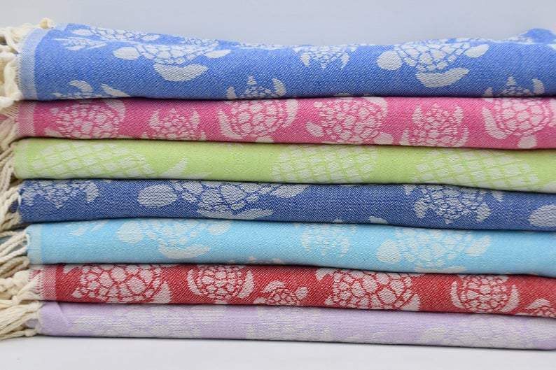 Sea Turtles Galore Series - 100% Cotton Towels