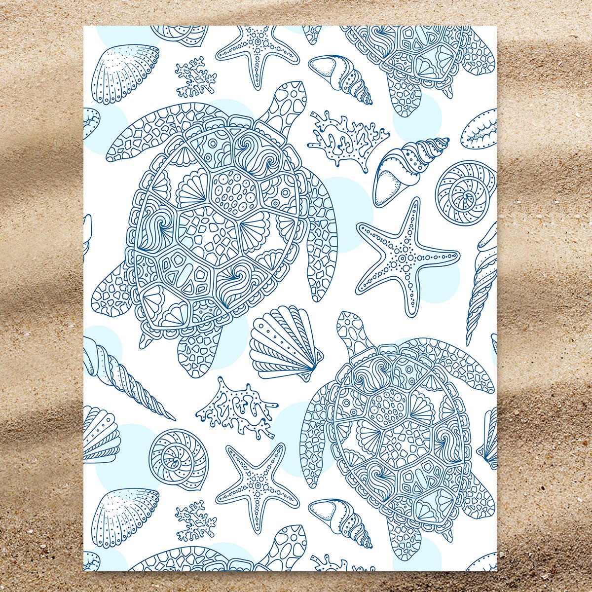 Sea Turtles Way Extra Large Towel-Coastal Passion