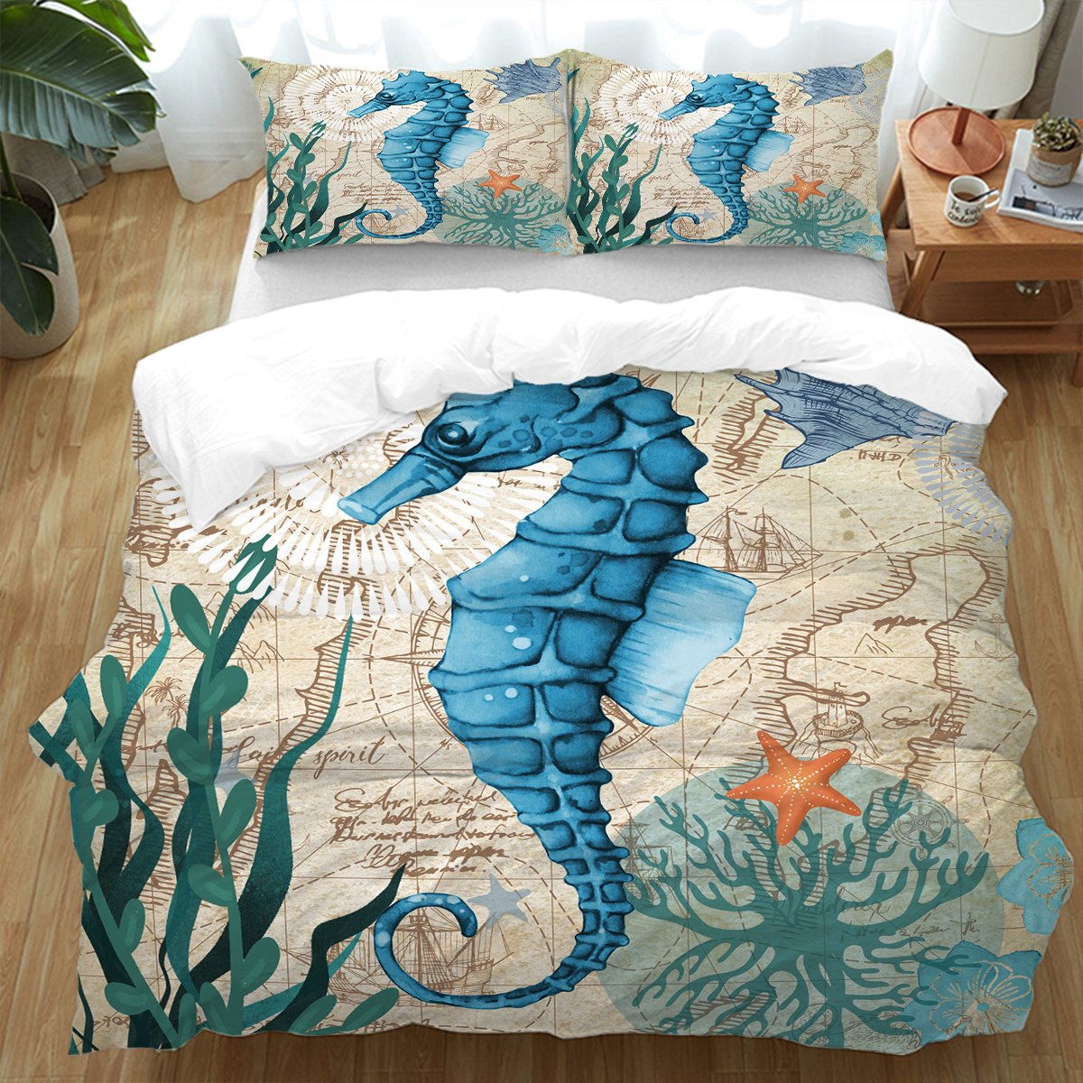 Seahorse Love Bedding Set-Coastal Passion