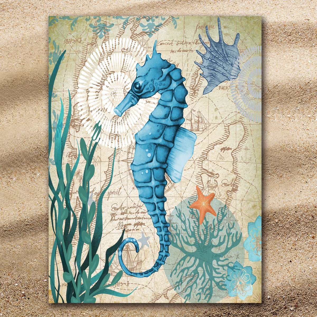Seahorse Love Extra Large Towel-Coastal Passion