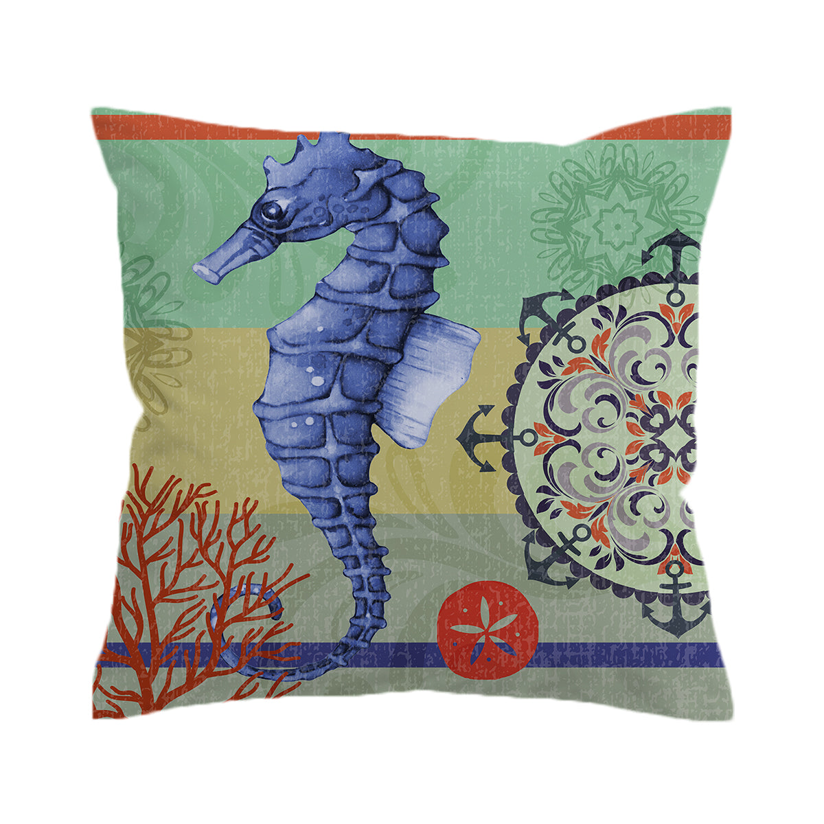 Seahorse Passion Pillow Cover
