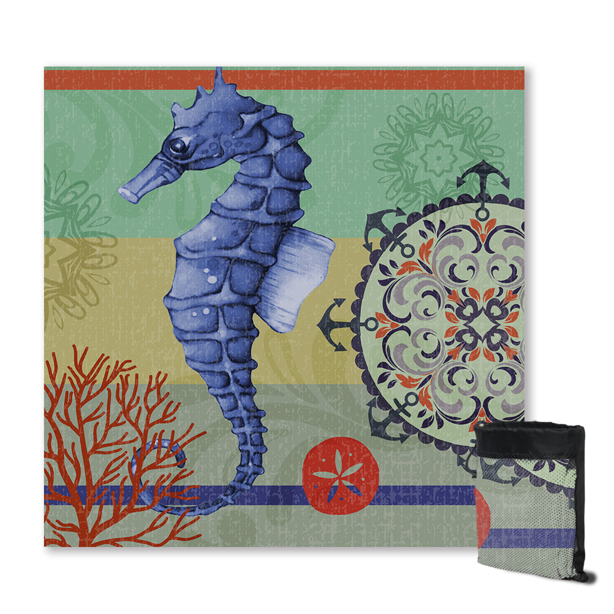 Seahorse Passion Sand Free Towel