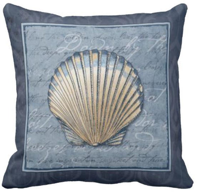 Seashells By The Seashore Collection-Pillow Cover-Design 8-Coastal Passion