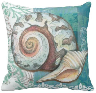 Seashells By The Seashore Collection-Pillow Cover-Design 11-Coastal Passion