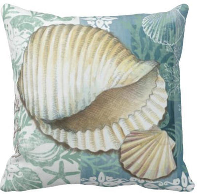 Seashells By The Seashore Collection-Pillow Cover-Design 12-Coastal Passion