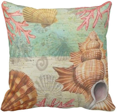 Seashells By The Seashore Collection-Pillow Cover-Design 13-Coastal Passion