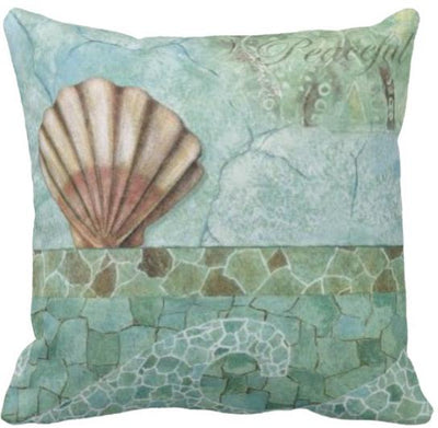 Seashells By The Seashore Collection-Pillow Cover-Design 14-Coastal Passion