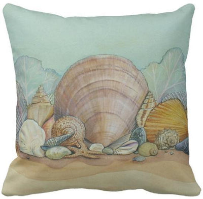 Seashells By The Seashore Collection-Pillow Cover-Design 15-Coastal Passion