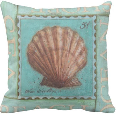 Seashells By The Seashore Collection-Pillow Cover-Design 1-Coastal Passion