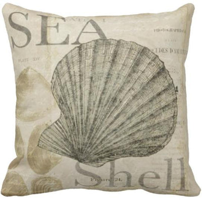 Seashells By The Seashore Collection-Pillow Cover-Design 2-Coastal Passion