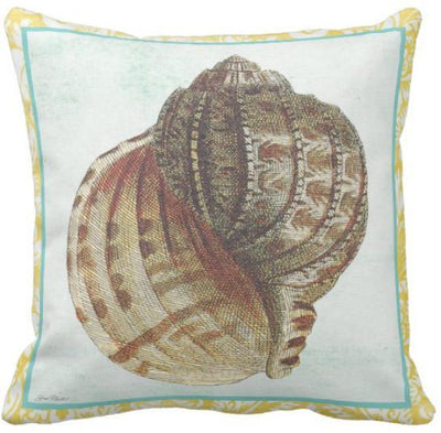 Seashells By The Seashore Collection-Pillow Cover-Design 3-Coastal Passion