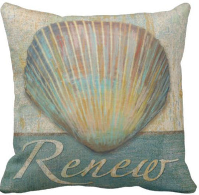 Seashells By The Seashore Collection-Pillow Cover-Design 4-Coastal Passion