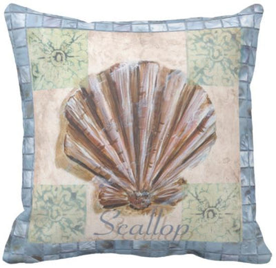 Seashells By The Seashore Collection-Pillow Cover-Design 5-Coastal Passion