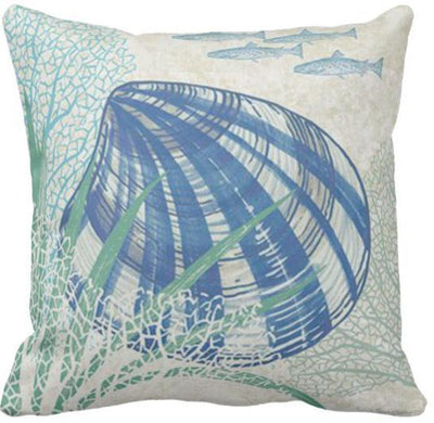Seashells By The Seashore Collection-Pillow Cover-Design 6-Coastal Passion