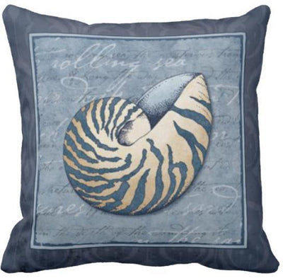 Seashells By The Seashore Collection-Pillow Cover-Design 9-Coastal Passion