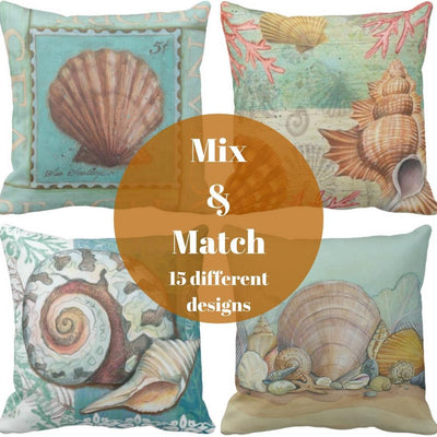 Seashells By The Seashore Collection-Pillow Cover-Coastal Passion
