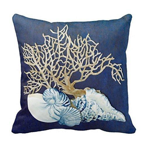 Seashells Pillow Cover-Pillow Cover-Coastal Passion