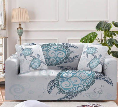The Sea Turtle Twist Couch Cover