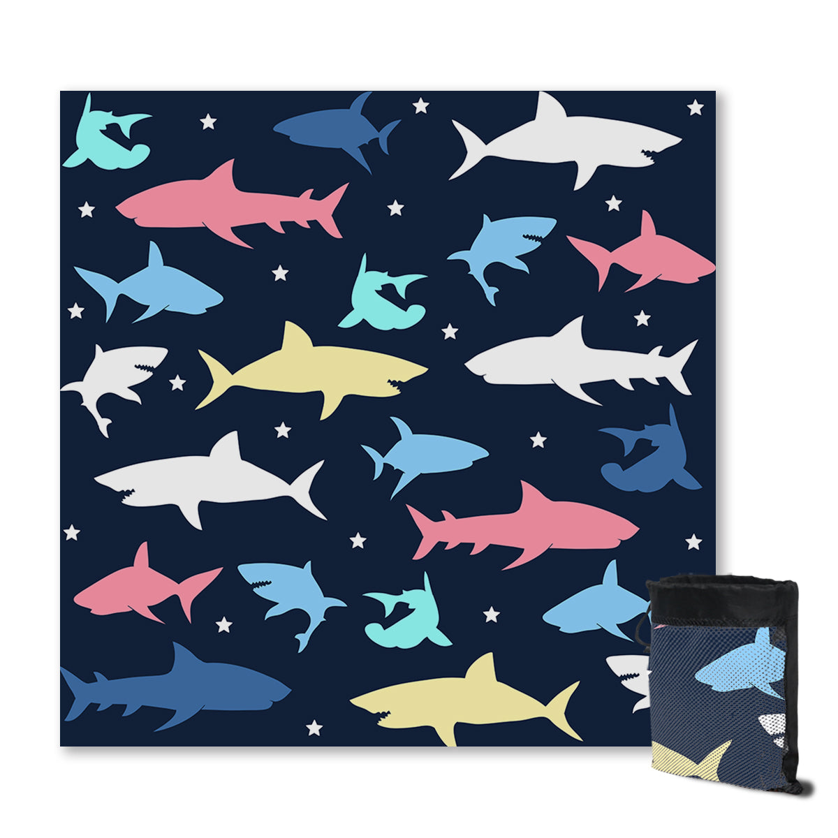 The Shark Disco Sand Free Towel