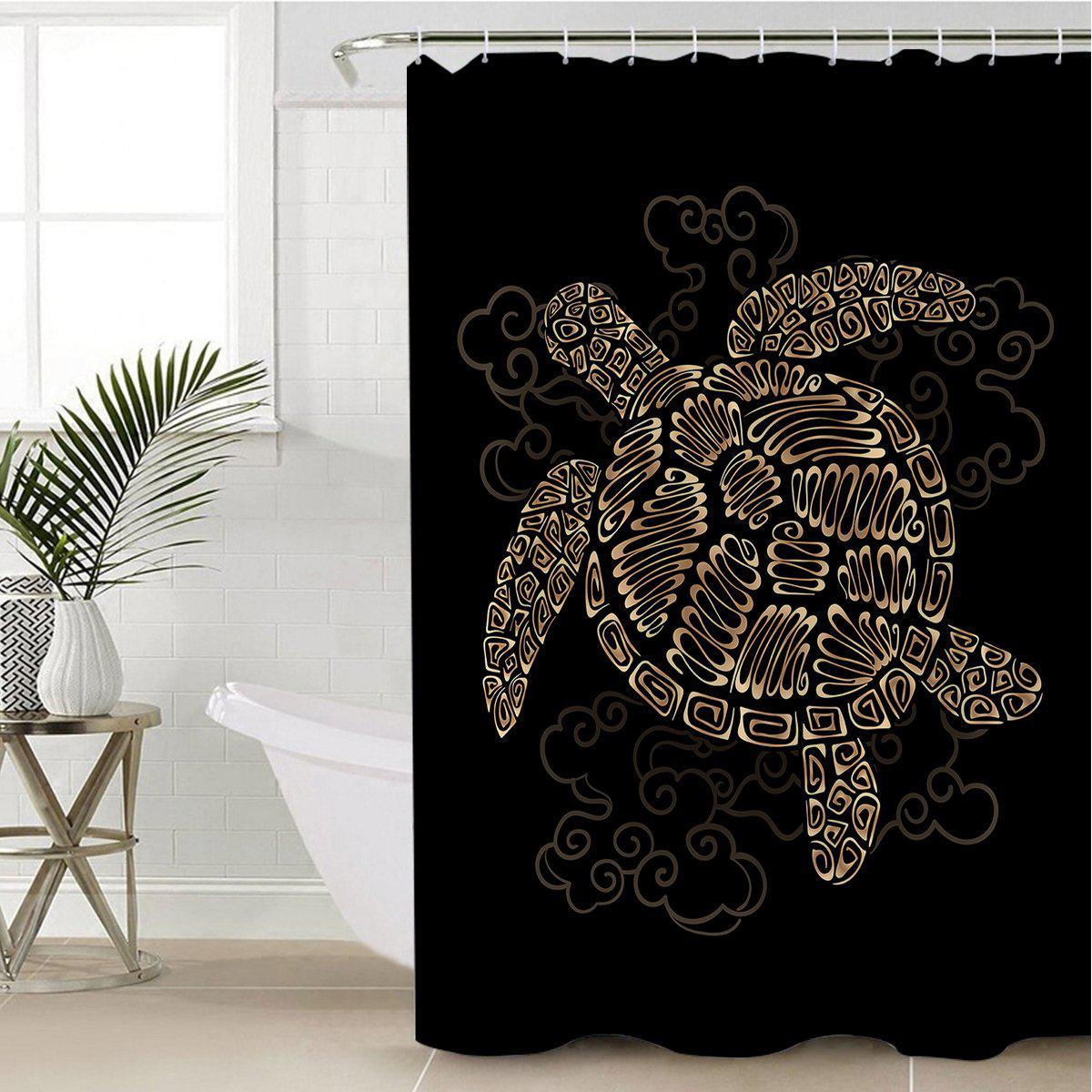 Shelly the Sea Turtle Shower Curtain-Coastal Passion
