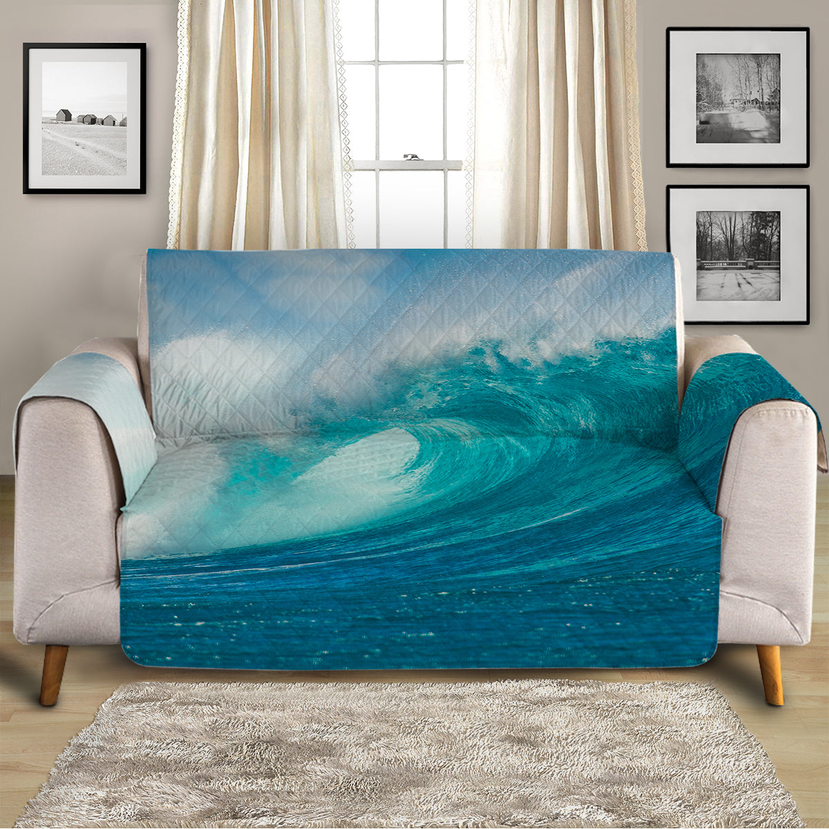 Ocean Wave Sofa Cover