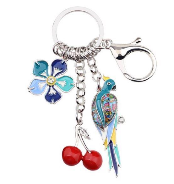 Summer Vibes - Enamel Pendant Key Ring-Coastal Passion