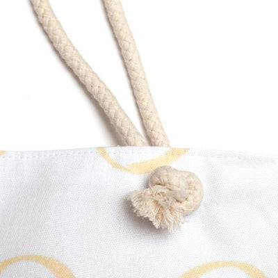 Summer Weekender Tote Bag-Cotton rope strap-Coastal Passion