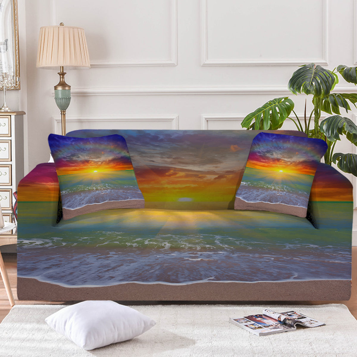 Sunset Beach Couch Cover
