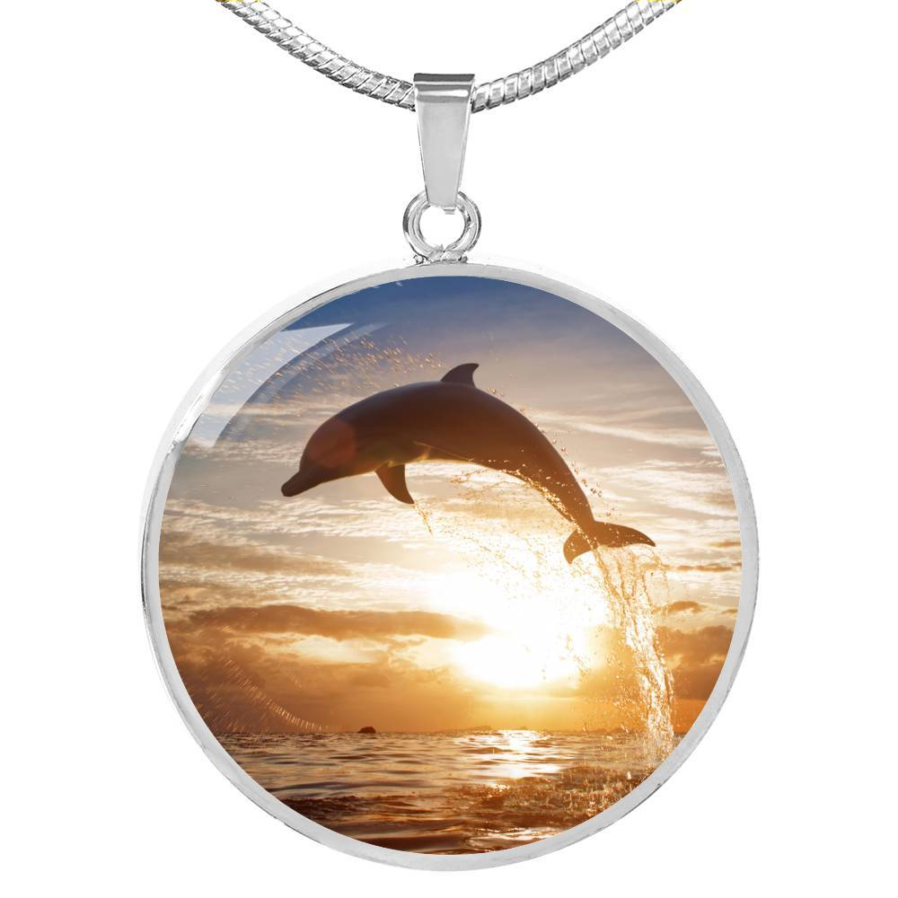 Sunset Dolphin Necklace-Coastal Passion