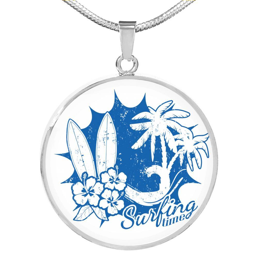 Surfing Time Necklace-Coastal Passion