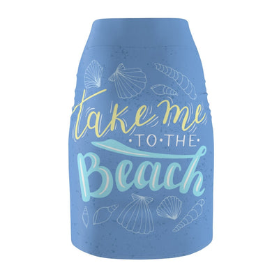 Take Me To The Beach Pencil Skirt-All Over Prints-Coastal Passion