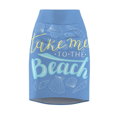 Take Me To The Beach Pencil Skirt-All Over Prints-XS-Coastal Passion