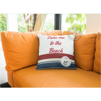 Take Me to the Beach Pillow Cover-Pillow Cover-Coastal Passion