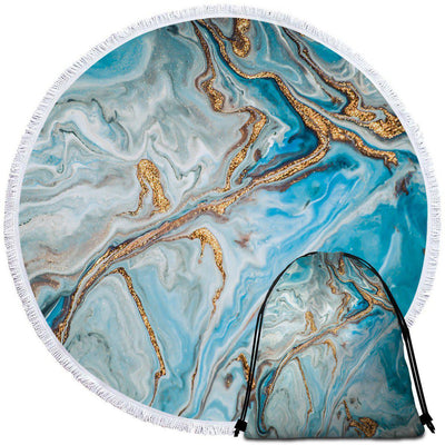 Round Beach Towel-The Baths Towel + Backpack-Coastal Passion