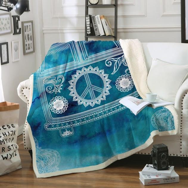 "The Beach Bus Soft Sherpa Blanket-Blanket-Oversize: Size 80"" x 60""-Coastal Passion"