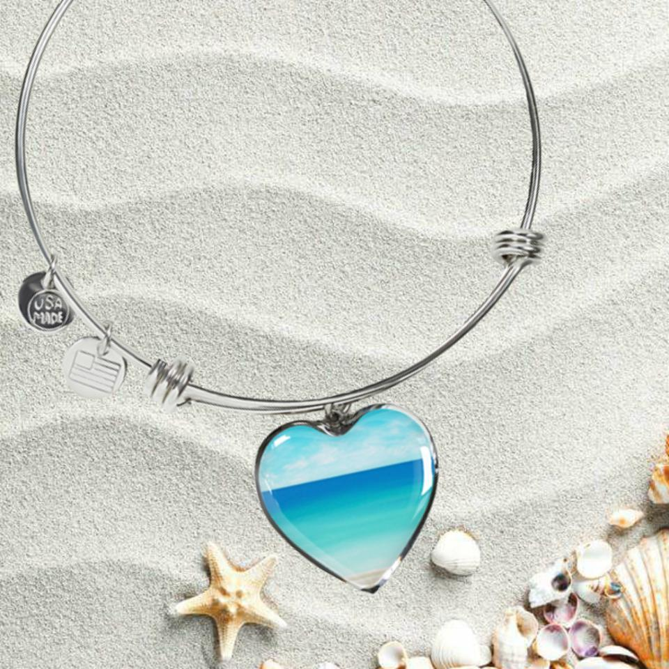 The Beach In My Heart Bracelet-Bangle Bracelet-Coastal Passion
