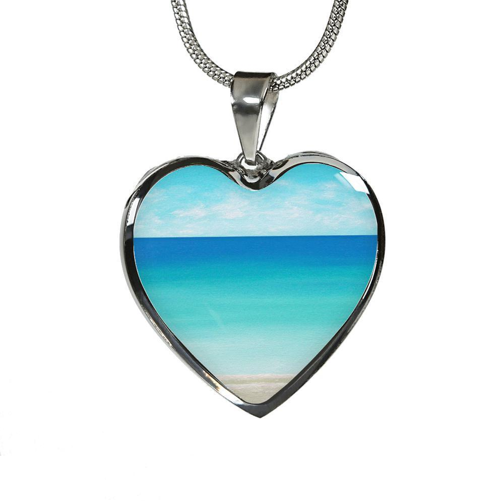 Easter Promo The Beach In My Heart Necklace/Bracelet-Jewelry-Luxury Necklace (Silver)-Coastal Passion