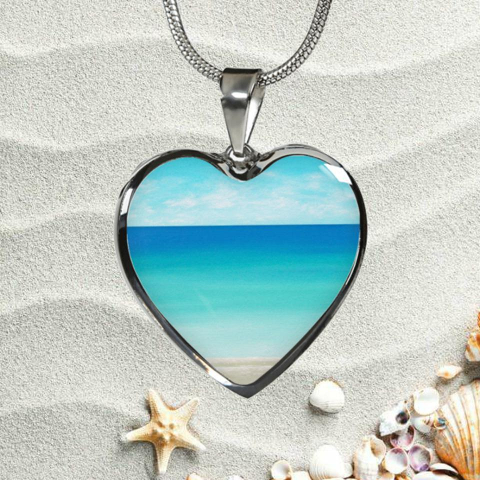 The Beach In My Heart Necklace-Jewelry-Luxury Adjustable Necklace-Coastal Passion