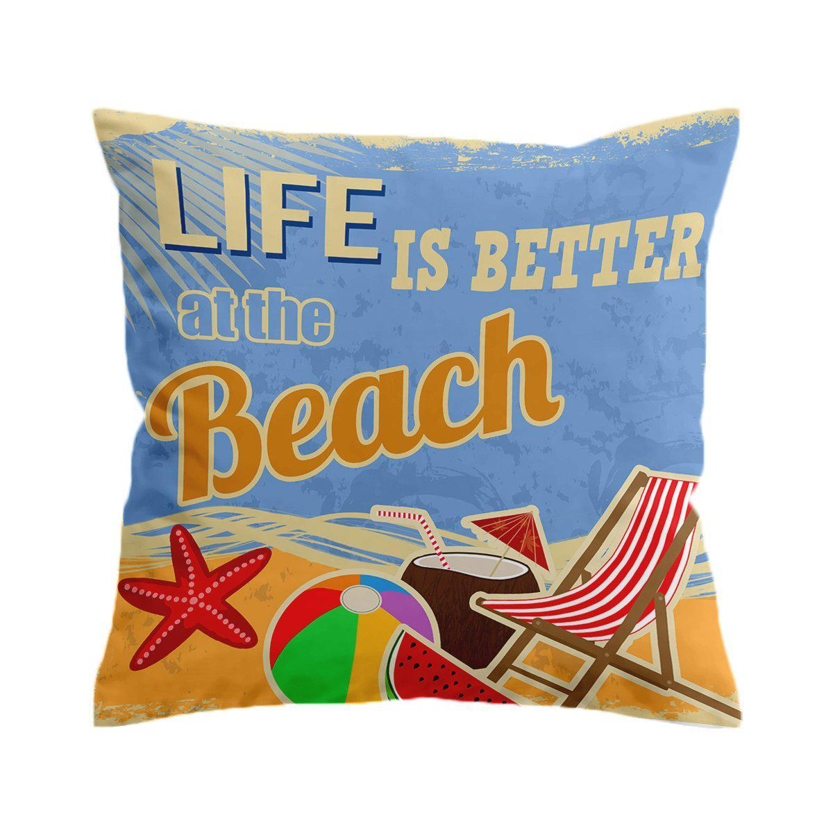 The Beach is Better Pillow Cover-Coastal Passion