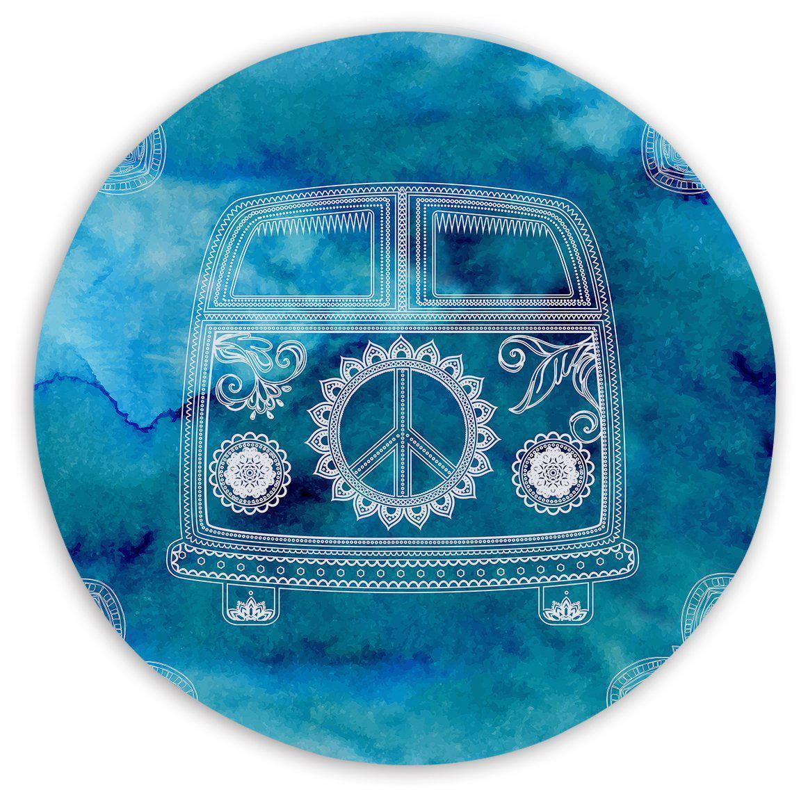 Sand Free Beach Towel-The Cool Kombi Round Sand-Free Towel-Coastal Passion