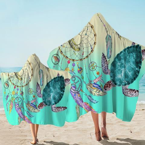 The Dreamcatcher and Sea Turtle Hooded Towel-Coastal Passion