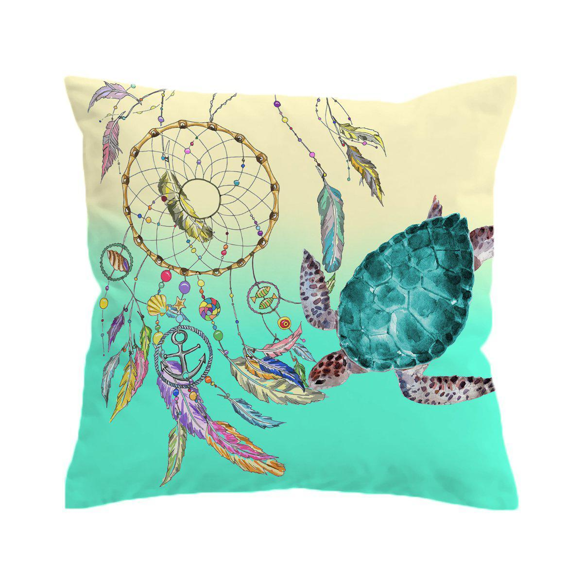 The Dreamcatcher and Sea Turtle Pillow Cover-Coastal Passion