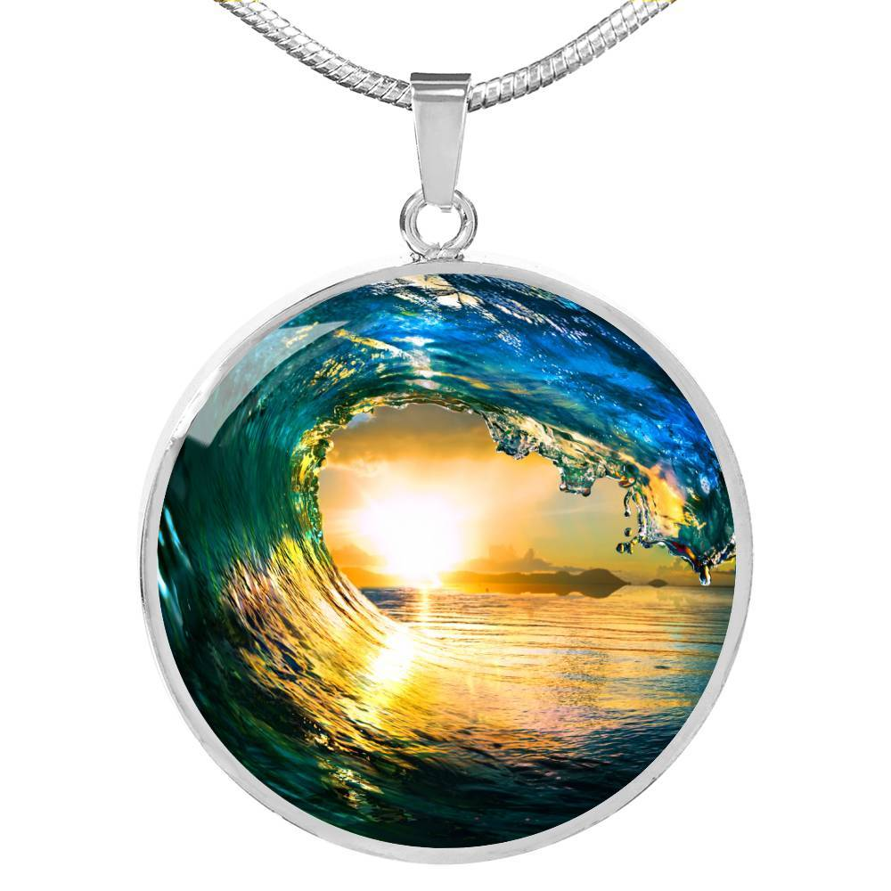 The Eye of the Ocean Necklace-Coastal Passion