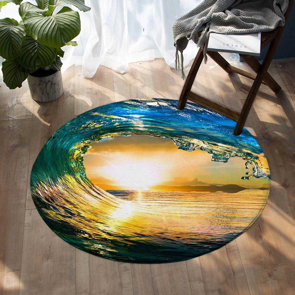 -The Eye of the Ocean Round Area Rug-Coastal Passion